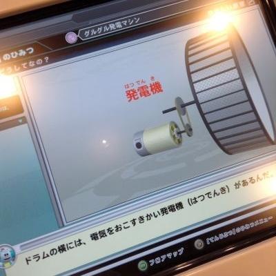 ドラムの横にある発電機