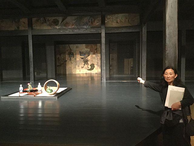 新利賀山房 舞台