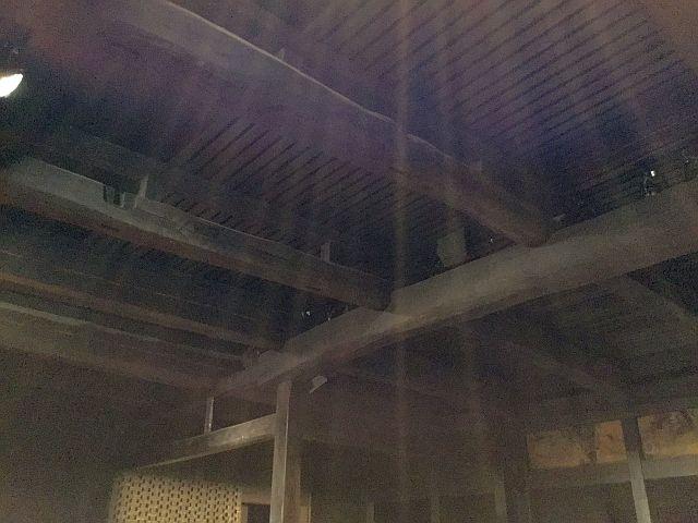 新利賀山房 天井部分